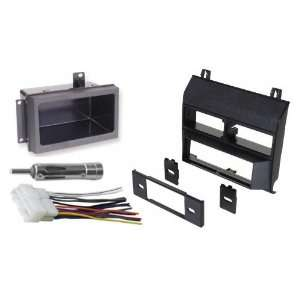 & GMC Complete Single Din Dash Kit + Pocket Kit + Wire Harness
