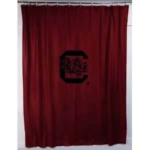 NCAA SOUTH CAROLINA GAMECOCKS LOGO SHOWER CURTAIN