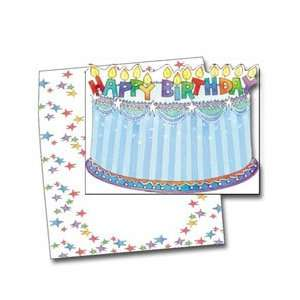 NRN HAPPY BIRTHDAY CANDLES Invitation   6 x 8   100