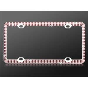 com Car Automotive License Plate Frame Chrome Coating Metal Painting