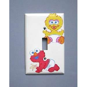 Sesame Street Baby Big Bird Elmo Single Switch Plate