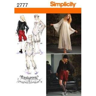 Simplicity Sewing Pattern 2777 Misses Costumes, R5 (14 16 18 20 22)
