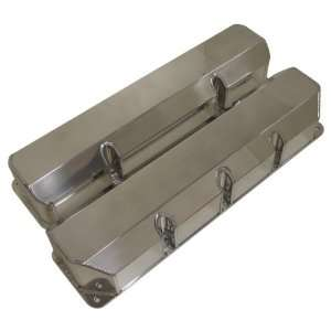 304 360 390 401 V8 Fabricated Polished Aluminum Valve Covers   Smooth