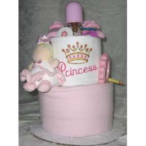 2 Tier Princess Baby Diaper Cake Baby
