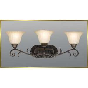 Iron Wall Sconce, JB 7373, 3 lights, Oiled Bronze, 27 wide X 10 high