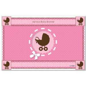 Girl Baby Carriage   Personalized Baby Shower Placemats Toys & Games