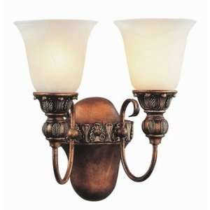 Trans Globe 2 Light Marbleized Glass Wall Sconce
