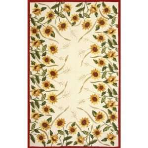 Sawgrass Mills Sunflowers Oatmeal Rug   Medium 5x8
