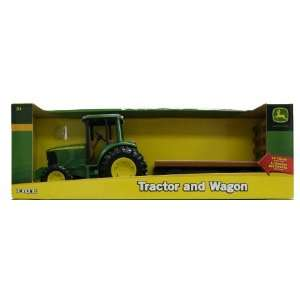 8 Inch John Deere Tractor with Wagon Set Toys & Games