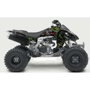 Kawasaki KFX450R Passion ATV Graphic Kit (Black) (2008