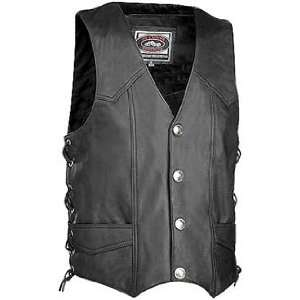 River Road Wyoming Nickel Leather Vest Medium Automotive