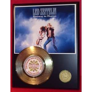LED ZEPPELIN LASER ETCHED WITH SONG LYRICS GOLD RECORD LIMITED EDITION