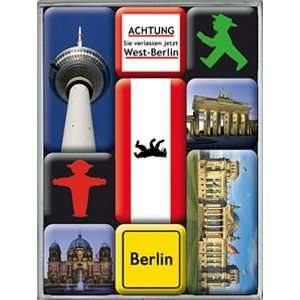 Images of Berlin set of 9 Mini Fridge Magnets in box