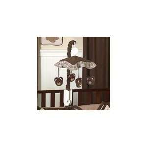 Chocolate Teddy Bear Musical Baby Crib Mobile by JOJo Designs Baby