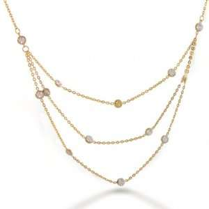 Jewelry 14K Yellow & White Gold By the Inch Multi Strand Necklace