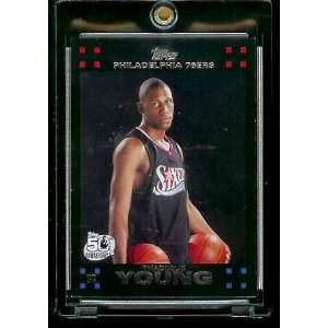 Topps Basketball # 122 Thaddeus Young Rookie   NBA Rookie Trading Card