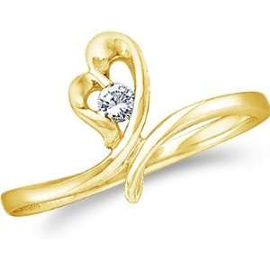 Heart Shape Love Round Cut Ladies Diamond Engagement Wedding Ring Band