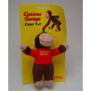 5 Tall Curious George Plush Zipper Pull Toys & Games