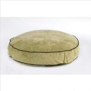 Super Soft Round Dog Bed in Celery Size Small (28)