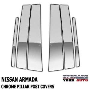 2004 2011 Nissan Armada Chrome Pillar Post Covers