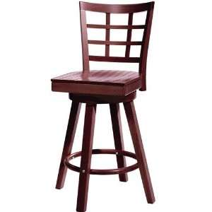 Lattice Swivel Counter Stool Wood Mahogany