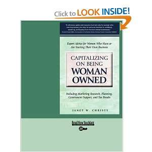 Capitalizing on Being Woman Owned (EasyRead Super Large