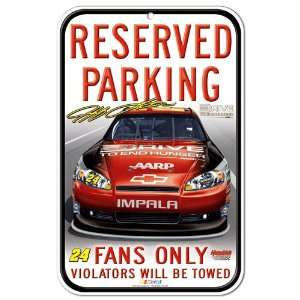 Jeff Gordon 11 x 17 Reserved Parking Sign  Sports