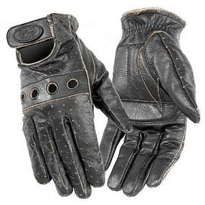 River Road Outlaw Vintage Leather Womens Motorcycle Gloves