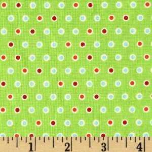 44 Wide Colorful Christmas Dots Lime Fabric By The Yard