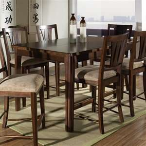 Somerton Home 7 piece Rhythm Square Bar Table Dining Set