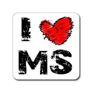 I Love Heart MS   MISSISSIPPI   Window Bumper Laptop
