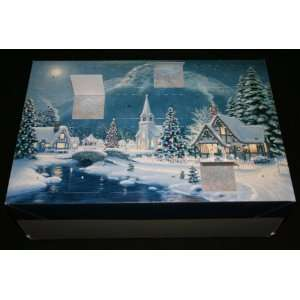 Advent Calendar Gift Box   Christmas Village, 24 Secret Compartments