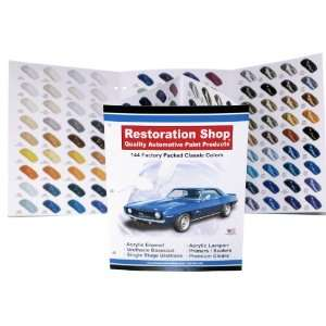 144 Restoration Shop COLOR CHART AUTO/CAR PAINT CHIPS Automotive
