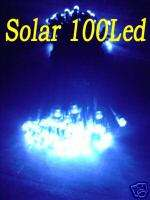 Solar 100 Blue Led Christmas String Light 15+H h351