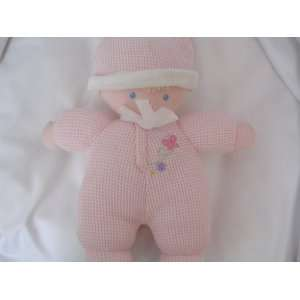 Baby Doll Pink Plush Rattle Toy 10 Collectible