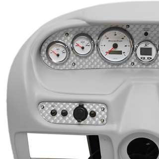 502025 2002 X10/X30 BOAT DASH PANEL w/ GAUGES AND SWITCHES