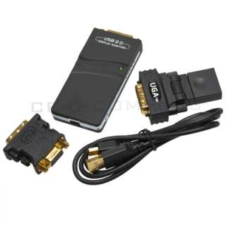 UGA USB to DVI VGA HDMI Multi Display Graphics Adapter